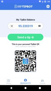 XRP TipBot App